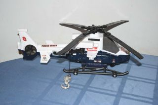 Tonka Police Rescue Helicopter With Lights,  Sounds & Retractable Winch Hook Toy