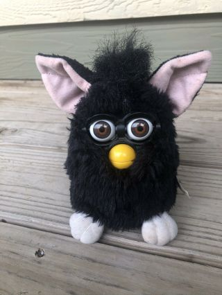 "Vintage Furby Black W/ Brown Eyes 1998 (""witch's Cat"") 70 - 800"