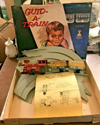 1965 Louis Marx & Co Guid - A - Train W Box/directions Metal/plastic Battery Op