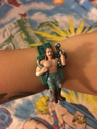 "1991 Jake ""the Snake"" Roberts Rubber Wristwatch,  Collectible Toy Wwf Wrestling"