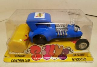 70s Durham Industries Sillys Toy Funny Car Hot Rod Sunoco Battery Operated Japan