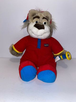 "Bedtime Bubba Funny Talking Flashlight Bear 18 "" 1997 Plush Toy"