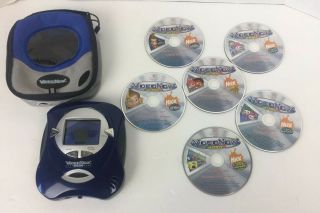 Video Now Color Portable Video Player Blue W/case,  7 Discs Great
