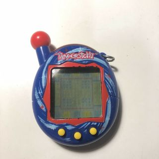 Tamagotchi Connection V4 Blue With Swirls,  2004 Bandai Wiz