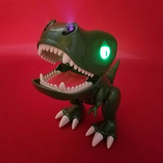 Green Zoomer Chomplingz Interactive Dinosaur T - Rex Dino With Lights And Sounds