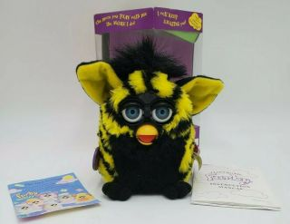 Furby 70 - 800 Repair Yellow Black With Blue Eyes Non