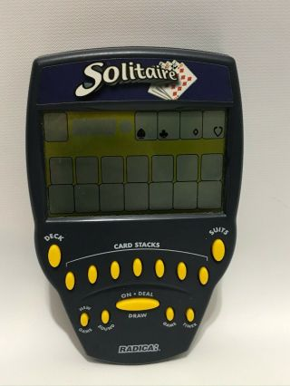Radica Large Screen Solitaire Handheld Electronic Video Game 1999