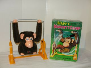 Vintage Happy Naughty Chimp In The Box