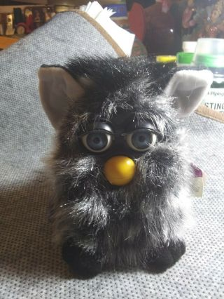 Furby Babies Black Grey Blue Eyes Out Of Box With Tags Tiger Electronics