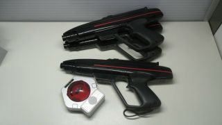 3 Lazer Tag Vintage 1986 Starlyte Gun Pistol Worlds Of Wonder Parts/ Repair