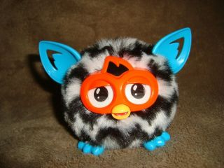 "Furby Furblings 2013 Hasbro Black & White Zig Zag 2.  75 "" Tall"