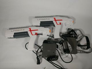 Laser X Set Of 2 - Player Laser Gaming Set Indoor/outdoor Lazer Tag Guns