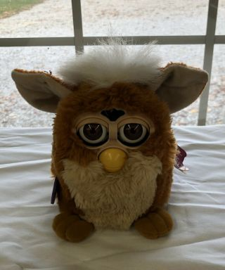 1st Gen.  1999 Furby Tiger Electronics Brown With Brown Eyes