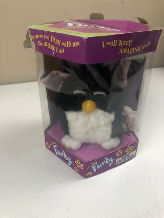 Furby 70 - 800 Black And White Electronic Toy - White