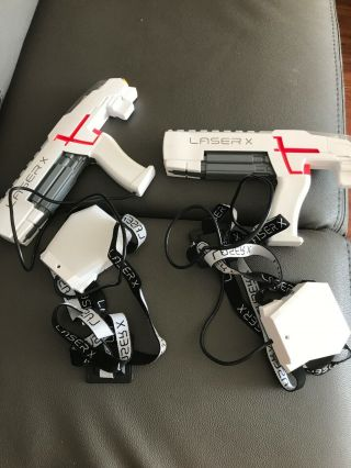 Laser X Set Of 2 Laser Tag Guns Once Christmas Gift