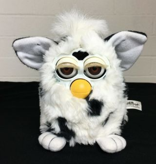 1998 Dalmation Furby Tiger Electronics With Brown Eyes,  Not
