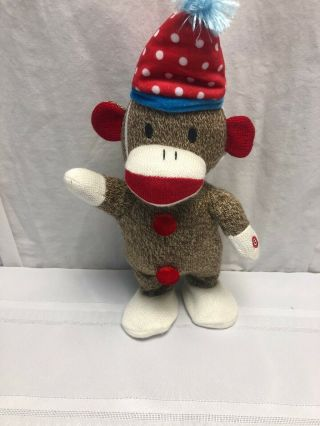 "Gemmy Dancing Animated Singing Sock Monkey 13 "" Plush They Say It"
