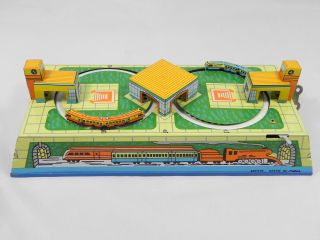 Retro Style Metal Wind Up Toy Train Set