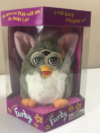 Furby 70 - 800 Grey And White Furby