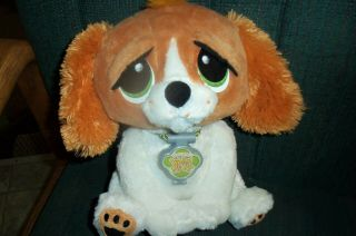 Rescue Pets Wake Me Up Kids Alarm Clock Plush Animated Cocker Spaniel Ships