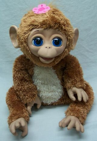 "Hasbro Fur Real Friends Interactive Baby Monkey 11 "" Plush Animal Toy"