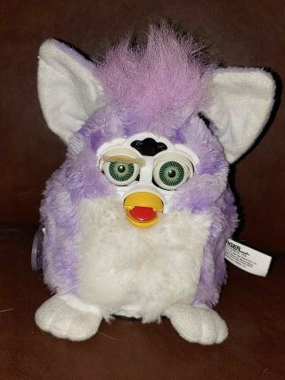 Tiger Electronics Furby Babies Purple Striped With Green Eyes 1999
