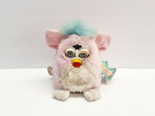 1999 Tiger Electronics Furby Babies Pink W/blue Hair 70 - 940