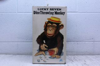Alps Lucky Seven Dice Rolling Monkey Battery Powered