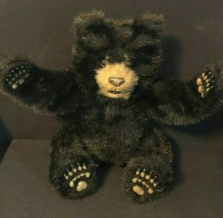 2004 Hasbro Tiger Luv Cubs Black Bear Fur Real Friend Plush Electronic 12 ""