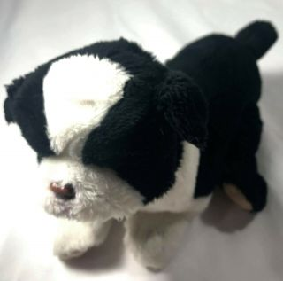 Hasbro Furreal Friends Dog Plush Black White Mini 2009 Animated