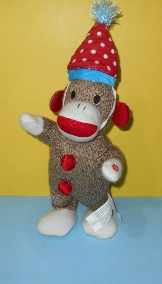 "Gemmy Dancing Animated Singing Sock Monkey 14 "" Plush They Say It"