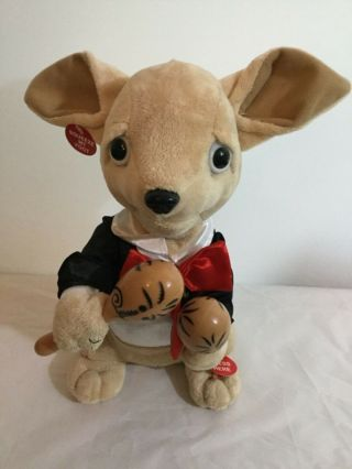 "Cuddle Barn Chihuahua Plush 12 "" Sings "" La Bamba "" Singing/dancing"