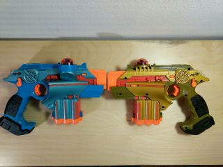 Nerf Phoenix Ltx Lazer Tag Gun Set Of 2 Blue And Gold Guns Only
