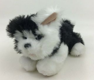 "Furreal Friends Walking Barking Puppy Dog Black White 10 "" Plush Toy With Battery"