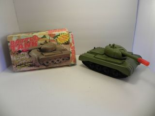 Vintage Battle Tank Battery Operated Lighted Gun Muzzle Made In Russia