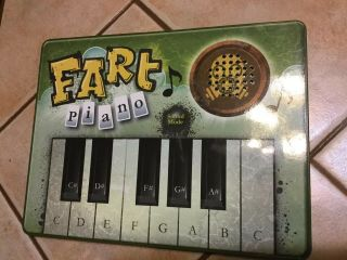 Fart Piano Keyboard Plays Farts Burp Barf Sounds Gag Gift Skyrocket Toys