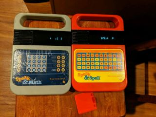 "Vintage ""speak & Spell"" (1980) And ""speak & Math"" (1980) /tested &"