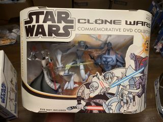 Clone Wars Cartoon Commemorative Dvd Figures Sith Attack Pack Ventress Grievous