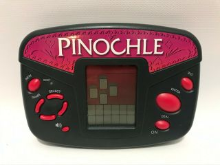 Radica Pinochle Handheld Electronic Video Card Game Model 3667
