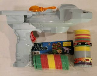 Space Ship Blaster Disk Shooter 1998 Min Yin Toys With Foam Disks