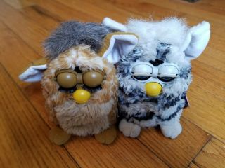 Furby 70 - 800 Series 1 Tiger Electronic Toy - Brown And Zebra