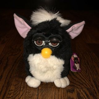 1998 Furby Tiger Electronics Black With White Belly Not