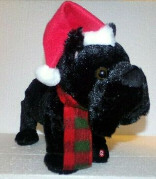 "Musical Dancing Plush Scottish Terrier Sings "" Who Let The Dogs Out "" By Gemmy"
