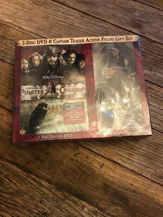 """Neca Pirates Caribbean Captain Teague 7 """" Figure From Dvd Gift Set At Worlds End"""