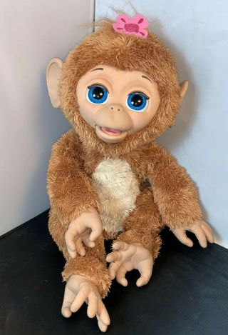 Cuddles Giggly Monkey Hasbro Fur Real Friend 2012battery Operated Animated