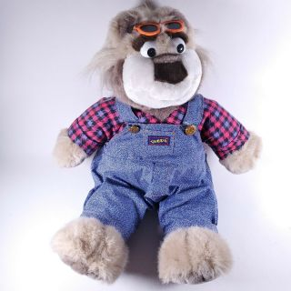 Vintage Tyco 1997 Bubba Talking Plush Stuffed Bear Redneck Overalls/plaid 15 ""