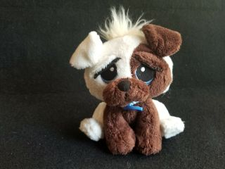 Rescue Pets Plush Stuffed Puppy Dog Sewn Eyes Creme Brown Lovey Toy Cute 7 ""