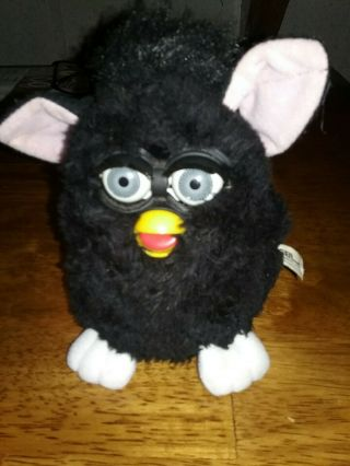 Furby 1998 Tiger Electronics Vintage Black And White Gray Eyes
