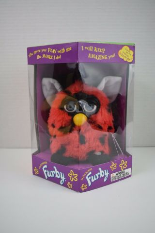 Furby Ladybug Red With Black Spots Blue Eyes 1999 Tiger Electronics
