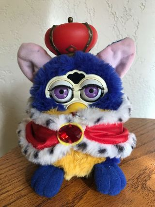 "Vintage 1998 Tiger Electronics Furby King "" Your Royal Majesty "" &"